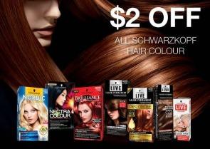 $2 off All Schwarzkopf Hair Colour