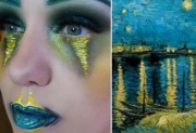 We're astounded by what happens when art and make up collide
