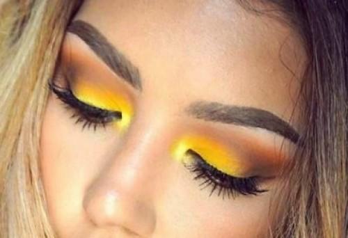 How to Rock Yellow Eyeshadow