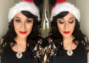 Makeup of the Week - Christmas Day by makeupforpandas