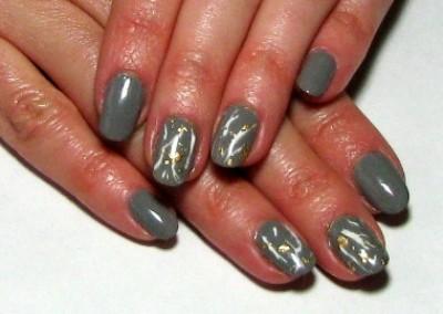 Gold Leaf Nail Tutorial by Debbie Page-Wood