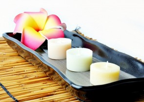 Relax with scented candles