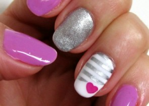 Valentine's Day Nail Art Tutorial - By Debbie Page-Wood