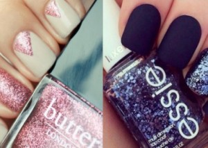 Nail of the Week - The Glitter Edition.  What gets your vote