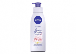 NIVEA Body Oil Infused Lotion Cherry Blossom and Jojoba Oil
