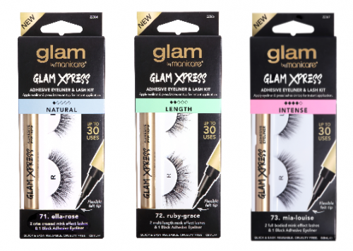 Glam by Manicare Xpress Adhesive Eyeliner and Lash Kit LENGTH