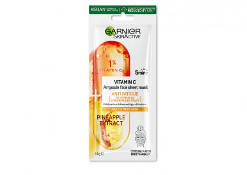 Garnier Vitamin C Anti Fatigue Ampoule Face Sheet Mask