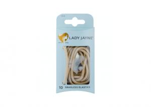 Lady Jayne Blonde Snagless Thick Elastics  - 10 Pack