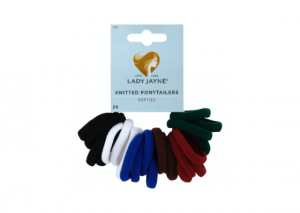 Lady Jayne School Soft Knitted Ponytailers - 24 Pack