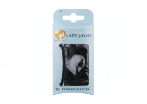 Lady Jayne Black Snagless Thick Elastics  - 10 Pack