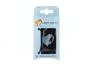 Lady Jayne Black Snagless Elastics - 18 Pack