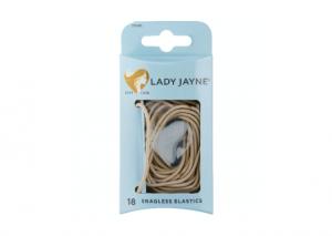 Lady Jayne Blonde Snagless Elastics - 18 Pack