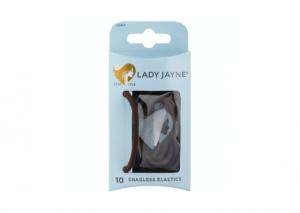 Lady Jayne Brown Snagless Thick Elastics  - 10 Pack