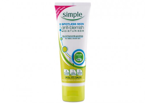 Simple Spotless Skin Acne Treatment Anti Blemish Moisturiser