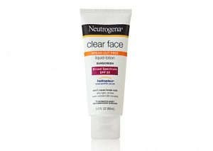 Neutrogena Ultra Sheer clear face Sunscreen liquid lotion SPF30 Review