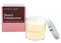 Living Light Pure Soy Wax Candle Plum & Pomegranate Review