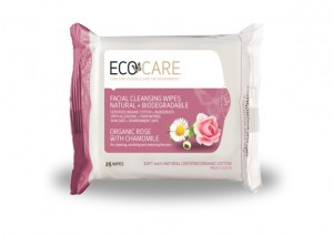 Eco Care Facial Cleansing Wipes Organic Rose with Chamomile Review