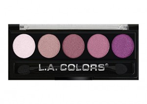 LA Colors 5 Color Metallic Eyeshadow Wine & Roses Review