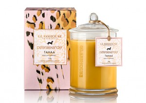Glasshouse Triple Scented Candles - Vanilla Caramel