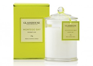 Glasshouse Triple Scented Candles -  Coconut Lime