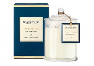 Glasshouse Triple Scented Candles - Burnt Sugar &  Fig