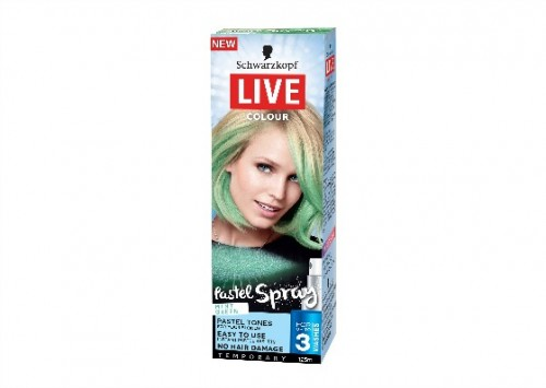 Schwarzkopf Live Colour Pastel Spray - Mint Green Review