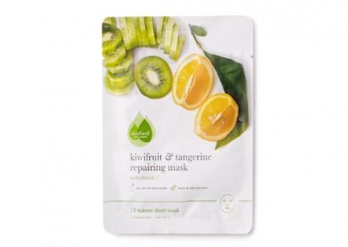 Skinfood Kiwifruit & Tangerine Repairing Sheet Mask Review