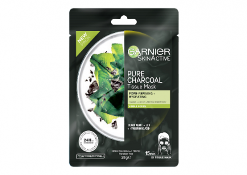 Garnier SkinActive Pure Charcoal Tissue Mask with Black Algae Review