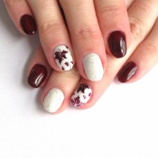 Autumn leaves and sparkles