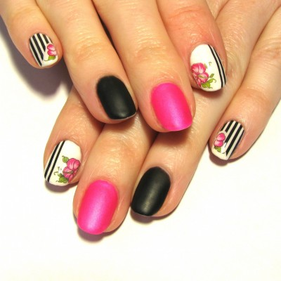 Full Set of Stripes with Hibiscus