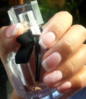 Gelish french polish with nail art