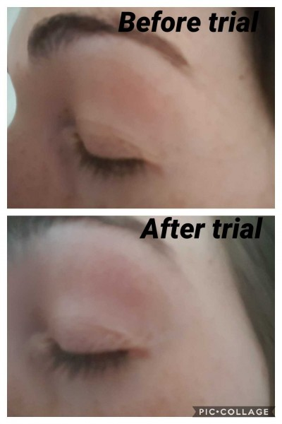 Lash serum trial.