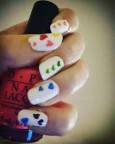 Rainbow Heart Nails