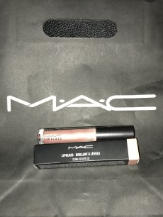 Mini MAC haul - Lipglass in 'Under the sheets'