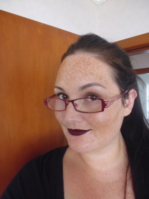 Trying out a dark lip